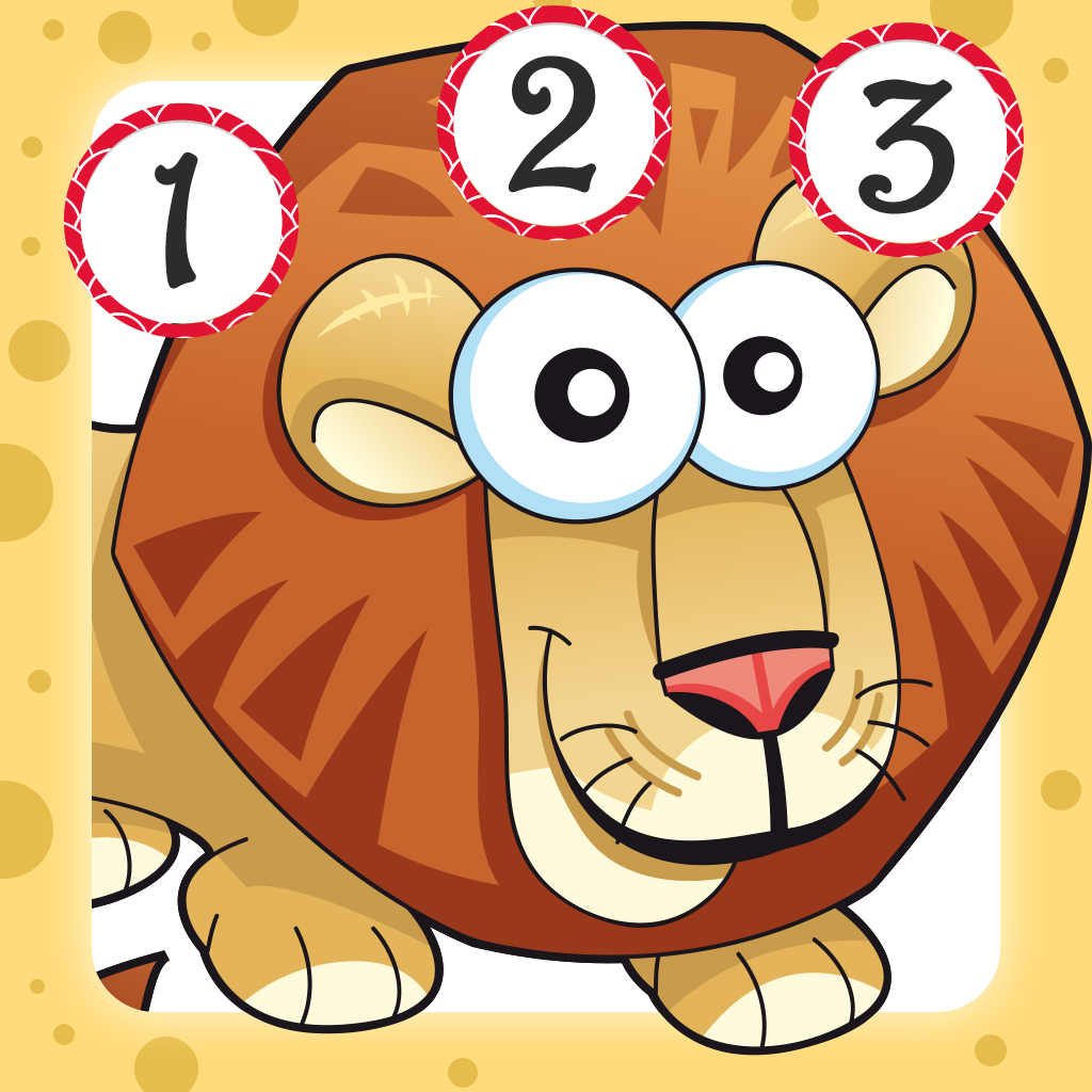 Savannah counting game for children: Learn to count the numbers 1-10 with safari animals
